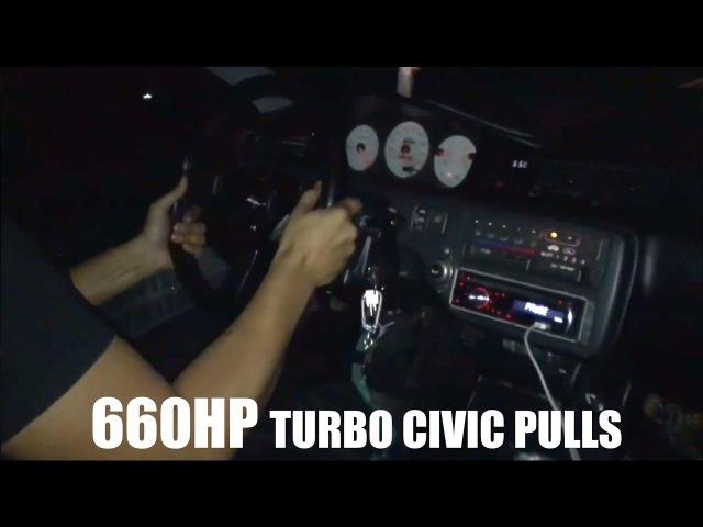 660HP Turbo Civic Pulls
