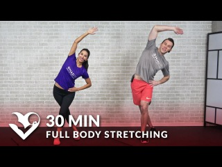 30 Minute Full Body Stretching Exercises - How to Stretch to Improve Flexibility & Mobility Routine