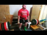 Влад Алхазов - тяга 480 кг с плинтов