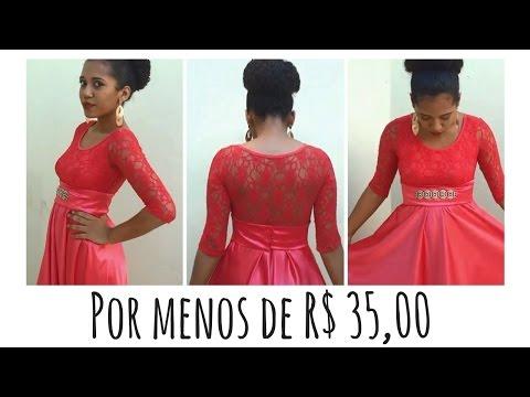 DIY - Vestido de festa MAIS BARATO DO MUNDO 💲💲💲
