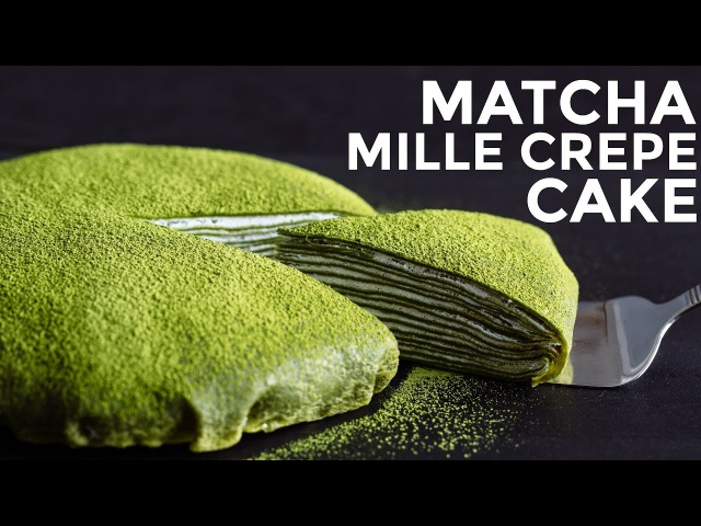 How To Make Matcha Mille Crepe Cake (Recipe) 抹茶ミルクレープケーキの作り方 (レシピ)