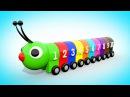 Мультик для малышей УЧИМ ЦВЕТА И ЦИФРЫ Цветная Гусеница Учимся считать от 1 до 10 Волшебство ТВ