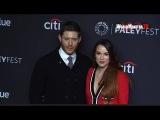 Jensen Ackles, Danneel Harris at Supernatural Red carpet 2018 PaleyFest LA
