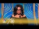 Oprah Winfrey Receives Cecil B. de Mille Award at the 2018 Golden Globes