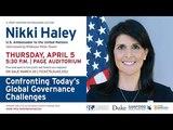 LIVE - Nikki Haley, US Ambassador to the United Nations