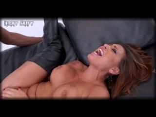 Eva Angelina в кожаных сапожках скачет на большом черном члене anal HD porn 4k анал анальный сек сосет член минет кончил на лицо