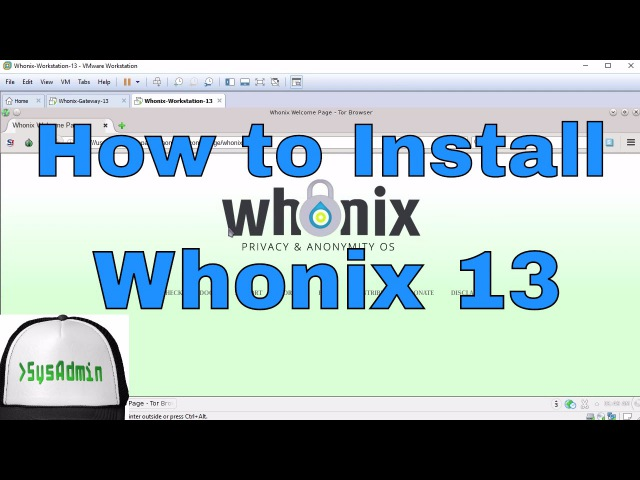 How to Install Whonix 13 for Anonymous Web Browsing Review on VMware Workstation [HD]