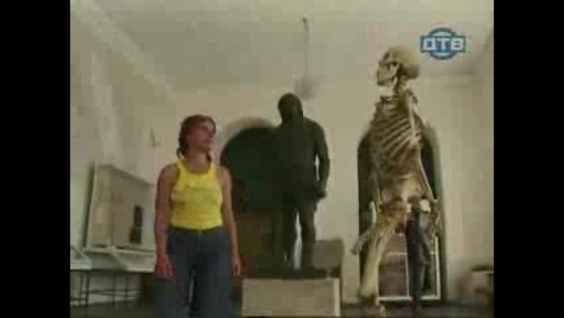 Реакция девушек на эрекцию у скелета