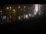 Колонна военной техники, заходит в Луганск в сопровождении полиции