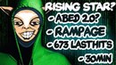 Who is this guy?! WTF New Meepo Pro? Abed 2.0? UNREAL 673 Lasthits in 30min Rampage - EPIC Dota 2