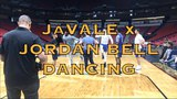 JaVale, Jordan Bell, and Damian Jones dancing after practice in New Orleans, day before G4