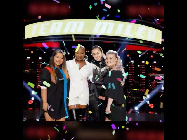 Thank you to all my fans everybody who watched @nbcthevoice for keepin TeamMiley together! Love you! Tune in next week!
