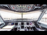 Кабина пилотов А320neo 360°