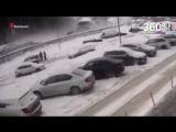 Обрушение парковки в Балашихе