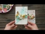 ♫ Скрапбукинг мастер-класс открытка на 8 марта своими руками DIY  Scrapbooking