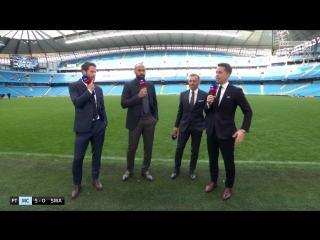 Чемпионат Англии 2017-2018 / 35-й тур / Манчестер Сити (Манчестер) – Суонси Сити (Суонси) / После матча [720, HD]