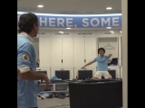 Behind the scenes in the Champions' dressing room on coronation day! ? #mancity