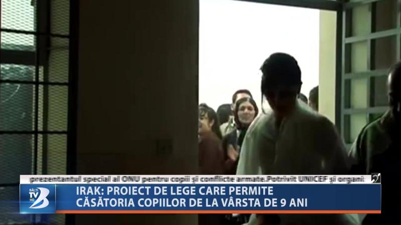 IRAK - PROIECT DE LEGE CARE PERMITE CĂSĂTORIA COPIILOR DE LA VÂRSTA DE 9 ANI