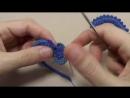 Урок вязания крючком ПЫШНЫЙ РАЧИЙ ШАГ Завиток ирландское кружево Irish lace