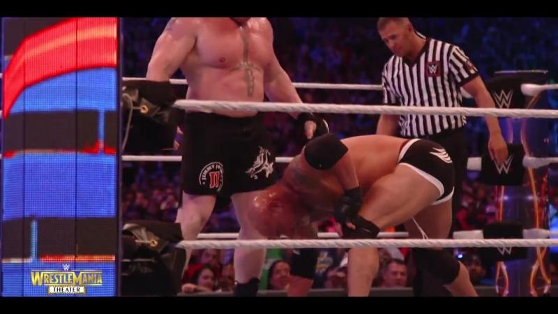 (WWE Mania) Голдберг vs. Брок Леснар