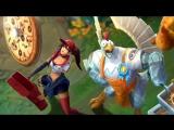 Цыпленок и доставщица пиццы | Трейлер образов ко Дню едока – League of  Legends