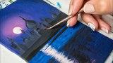 Night Taj Mahal - Acrylic painting Homemade Illustration (4k)