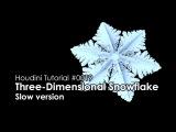 [Houdini Tutorial] 0019 Three-Dimensional Snowflake (Slow ver.)