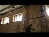 Утепление стен с колодцевой кладкой