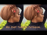 EASY TURBAN TUTORIAL || NO PINS!!!