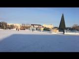 Снос ледового городка в Нефтеюганске. Он-лайн