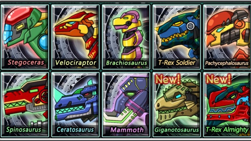 Dino Robot - Dino Corps 2 - 10 robots dinosaurs (HD 1080p 60fps)