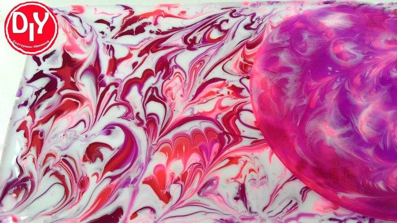 Эксперимент Пробую новый пигмент для эпоксидной смолы белый розовый и сиреневый
