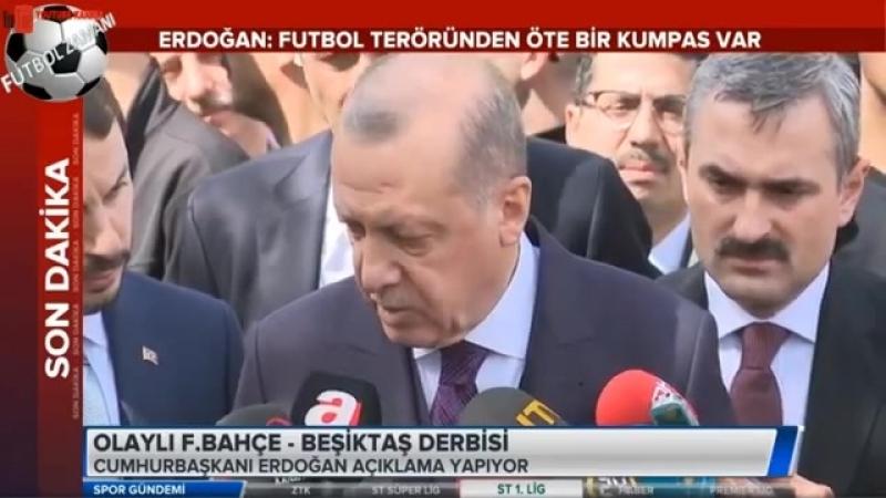 Cumhurbaşkanı Recep Tayyip Erdoğan olaylı Fenerbahçe - Beşiktaş maçı hakkında konuştu