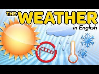 The weather in English - Vocabulary of meteorology and climate