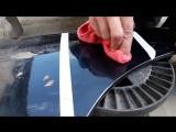Как убрать не глубокую царапину на авто своими руками .