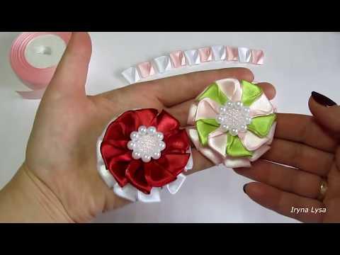 Простые Цветочки🌺 Из Ленты 2.5 МКDIY How to make easy flowersatin ribbon