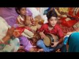 A Cute Little Kashmiri Boy Plays Tumbukh Near ( Traditional Musical Instrument From Kashmir ) / Милый маленький мальчик из Кашми