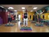 All out Step Aerobics and Leg workhigh calorie BURN
