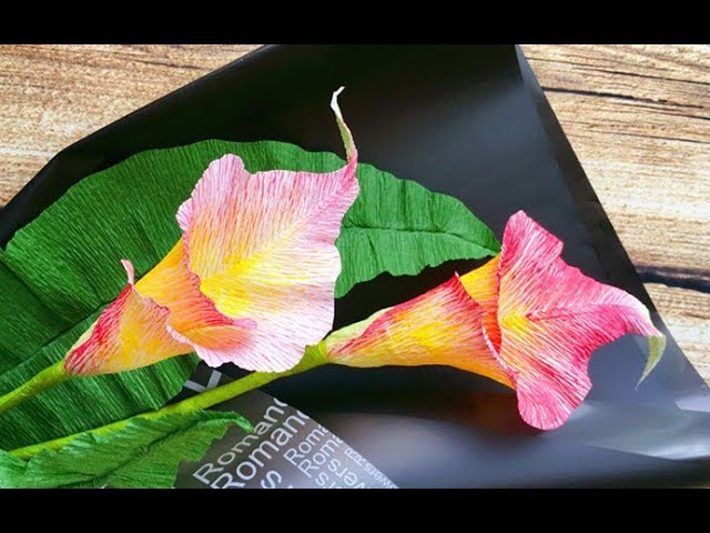 ABC TV | How To Make Calla Lily Paper Bouquet Flower From Crepe Paper 1 - Craft Tutorial