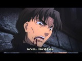 FateStay Night Unlimited Blade Works. Lancer Kills Kirei