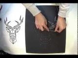String Art ou art de la ficelle - Tableau cerf minimaliste - Time lapse