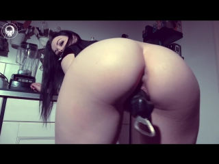 Alissa noir - creamy squirty pussy juice (1080p) [amateur, gothic girl, solo, masturbation, dildo, squirt, close-up]