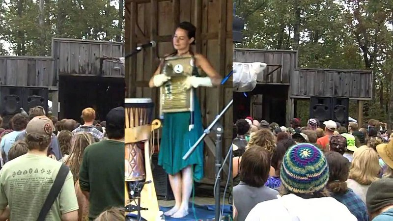 What Is Time? Bonnie Paine washboard, Elephant Revival song 10-31-2012 Harvest Festival