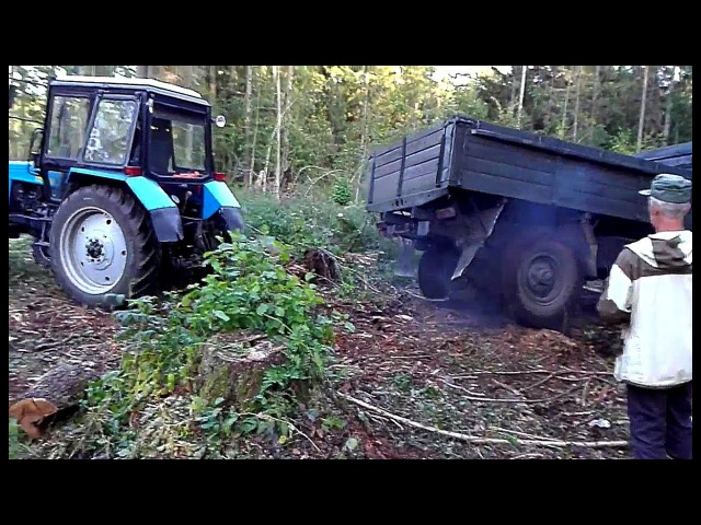Тракторы МТЗ приходят на помощь в условиях бездорожья На трактор надейся а сам не плошай
