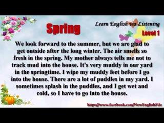 Learn English via Listening Level 1 Unit 66 Spring