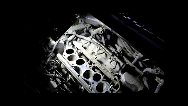 Замена свечей зажигания двигатель 1MZ FE 2часть Toyota Harrier Тойота Харриер 2004 года