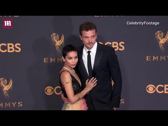 Zoe Kravitz gets close to boyfriend Karl Glusman at 2017 Emmys
