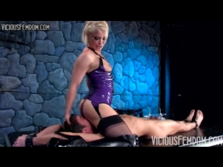 Ash Hollywood BALLBUSTING STRAPON CHASTITY CBT FEMDOM [latex porn girl fetish латекс порно фетиш]