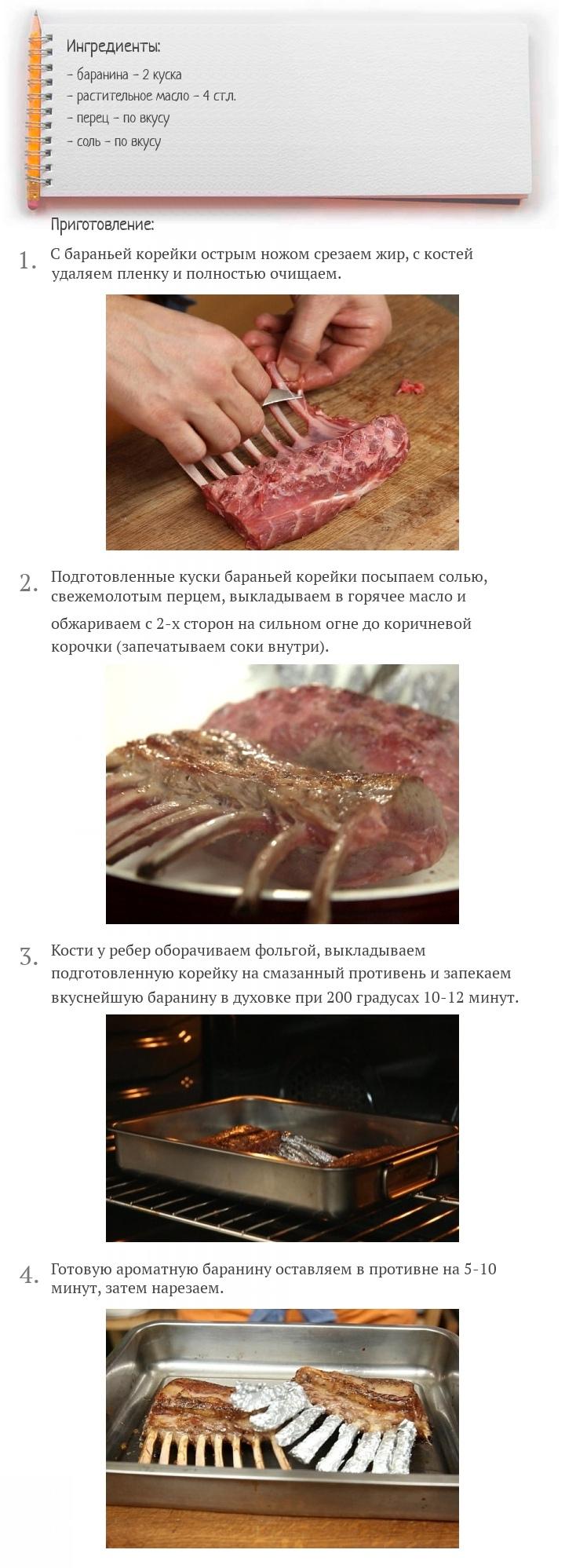 Баранья корейка на кости в духовке, изображение №2