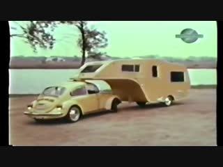 VW Bug Gooseneck Trailer FOUND. Forgotten Volkswagen Camper. 1 of a kind VW acce